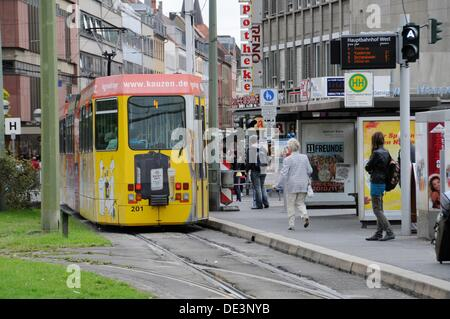 Tram in Wuerzburg - Stock Photo