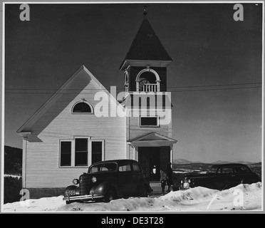 Landaff, Grafton County, New Hampshire. Like its town building, Landaff's church is fairly new, the . . . 521502