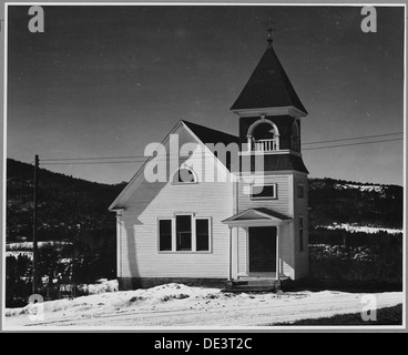 Landaff, Grafton County, New Hampshire. Like its town building, Landaff's church is fairly new, the . . . 521535