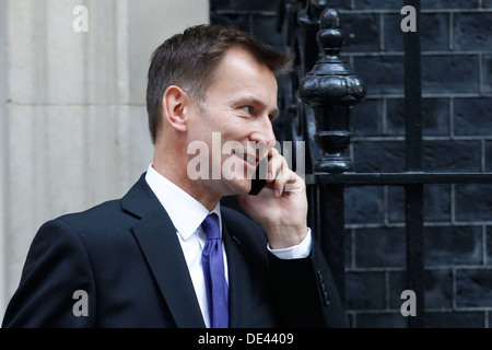 Jeremy Hunt MP Secretary of State for Health attends the weekly cabinet meeting at No:10 Downing Street - Stock Photo