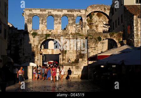 Silver east gate - Porta argentea - Diocletian´s Palace, Split, Croatia - Stock Photo