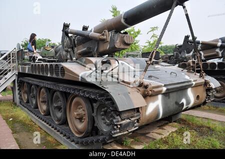 Seoul (South Korea): tank displayed at the War Memorial of Korea - Stock Photo