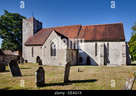 St Michael and All Angels Church, Chalton, Hampshire, England - Stock Photo