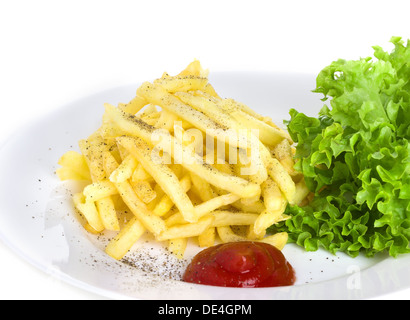 French fries, fried potatoes, fastfood - Stock Photo