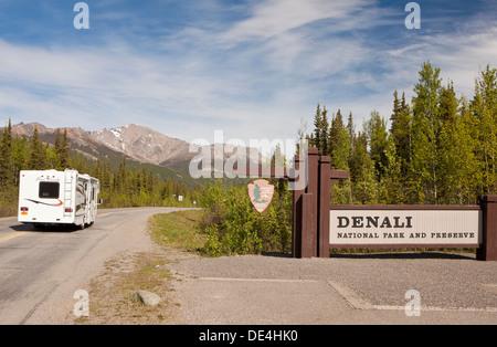 Entrance at Denali National Park, Alaska, U.S.A. - Stock Photo