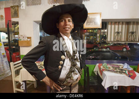 Mexico, Puerto Vallarta, Man dressed as Pancho Villa. - Stock Photo