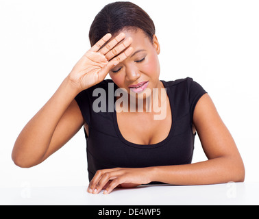 African woman having fever - Stock Photo