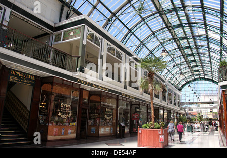 Royal Arcade in the seaside resort of Southport - Stock Photo