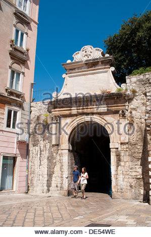 The Sea Gate, Porta Marina, Morska vrata, Zadar, Croatia - Stock Photo