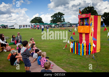 Traditional Punch and Judy Show, Hartfield Village Fete, Hartfield, Sussex, England - Stock Photo