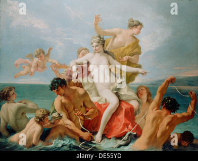 Triumph of the Marine Venus; Sebastiano Ricci, Italian, 1659 - 1734; about 1713; Oil on canvas - Stock Photo