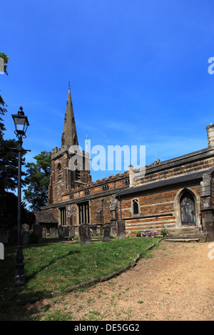 Summer view of St Peter St Paul Parish church in the market town of Uppingham, Rutland, England, Britain; UK - Stock Photo