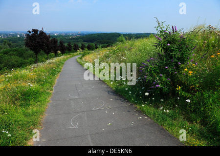 D-Bochum, Ruhr area, Westphalia, North Rhine-Westphalia, NRW, D-Bochum-Riemke, Tippelsberg, hill, landfill, disposal - Stock Photo
