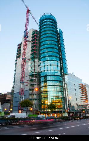 Titania Tower under construction. Madrid, Spain. - Stock Photo