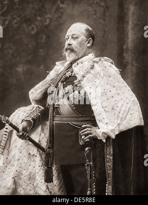 Edward VII , 1841 – 1910. King of the United Kingdom and the British Dominions and Emperor of India. - Stock Photo