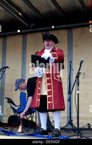 Stow-on-the-Wold town crier - Stock Photo