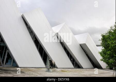 Polaria, Arctic museum and exhibitions center, Tromso, County of Troms, Norway, Northern Europe - Stock Photo