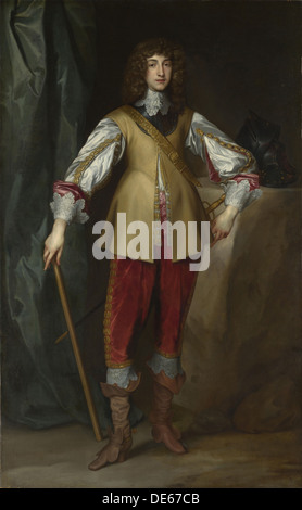 Portrait of Prince Rupert of the Rhine (1619-1682), Duke of Cumberland, ca 1637. Artist: Dyck, Anthony van, (Studio - Stock Photo