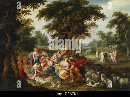 Arcadia. The Golden Age. Artist: Francken, Frans, the Younger (1581-1642) - Stock Photo