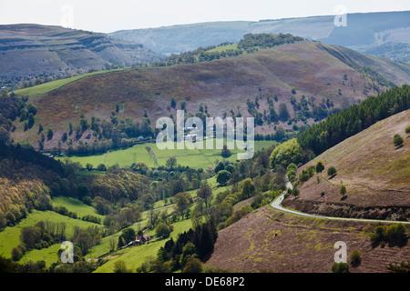 Horseshoe Pass, near Llangollen, Denbighshire, Wales - Stock Photo
