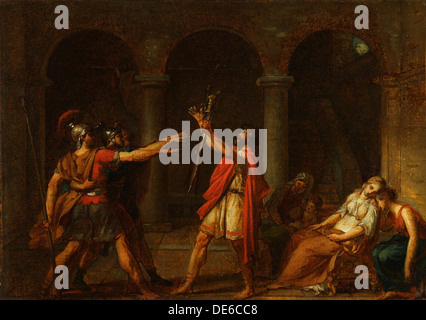 The Oath of the Horatii (Study), 1784. Artist: David, Jacques Louis (1748-1825) - Stock Photo