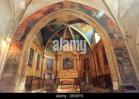 Interior of the Ménerbes church Luberon, Vaucluse, 84, PACA, France, Europe - Stock Photo