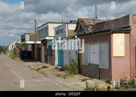 Poverty boarded up buildings  Jaywick Essex Uk Brooklands Estate   England  2010s 2013 UK HOMER SYKES - Stock Photo
