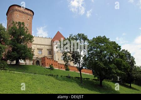 Wawel Castle in Krakow on a nice sunny day. The Gothic Wawel Castle in Kraków, Poland. - Stock Photo
