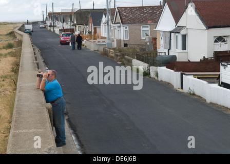 Jaywick Essex Uk. Brooklands estate Senior oap male poverty in coastal town.  2013 2010s Uk HOMER SYKES - Stock Photo