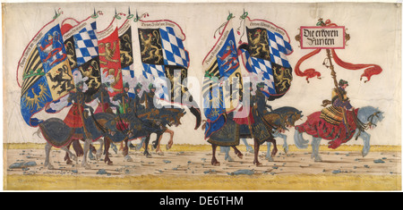 The German Princes, ca 1515. Artist: Altdorfer, Albrecht (c. 1480-1538) - Stock Photo