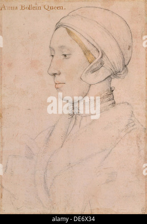 Unknown Lady (Anne Boleyn), 1536. Artist: Holbein, Hans, the Younger (1497-1543) - Stock Photo