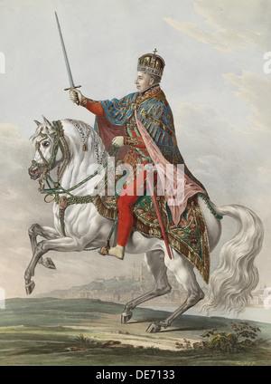Emperor Ferdinand I of Austria as King of Hungary, 1830. Artist: Wolf, Franz (1795-1859) - Stock Photo