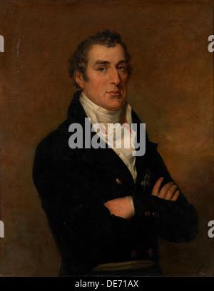 Portrait of Arthur Wellesley (1769-1852), 1st Duke of Wellington. Artist: Dawe, George (1781-1829) - Stock Photo