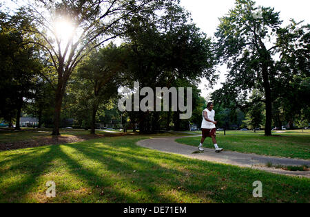 Sept. 11, 2013 - Memphis, Tenn, U.S. - September 11, 2013 - DeAngelo Brown takes an afternoon walk through Audubon - Stock Photo