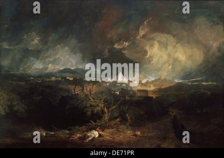 The Fifth Plague of Egypt, 1800. Artist: Turner, Joseph Mallord William (1775-1851) - Stock Photo