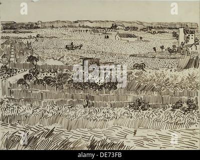 The Harvest in Provence (for Émile Bernard), 1888. Artist: Gogh, Vincent, van (1853-1890)