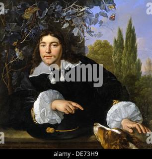Self-Portrait, 1655. Artist: Helst, Bartholomeus van der (1613-1670) - Stock Photo