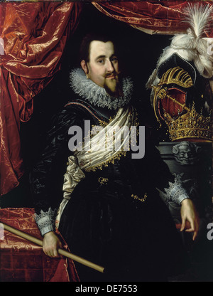 Portrait of King Christian IV of Denmark (1577-1648), c. 1615. Artist: Isaacsz, Pieter (1569-1625)
