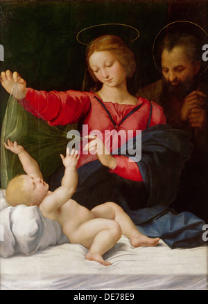 Madonna of Loreto, c.1508. Artist: Raphael (1483-1520) - Stock Photo