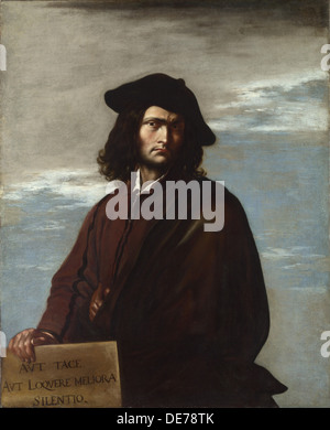 Philosophy (Self-Portrait), c. 1645. Artist: Rosa, Salvatore (1615-1673) - Stock Photo