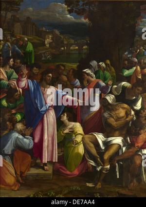 The Raising of Lazarus, ca 1518. Artist: Piombo, Sebastiano, del (1485-1547) - Stock Photo