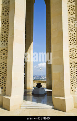 Martyrs Lane memorial to Turkish troops killed fighting against Russia in the early 20th century, Baku, Azerbaijan - Stock Photo