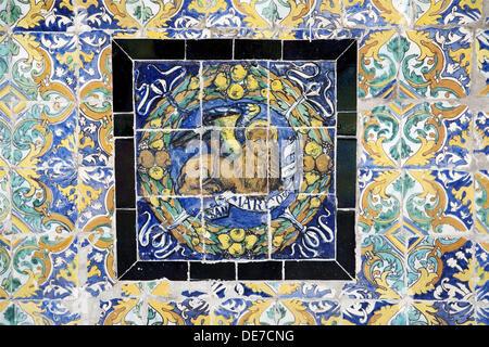 Saint Mark Symbol On Old Glazed Ceramic Tiles Fine Arts Museum