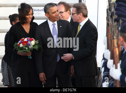 Berlin, Germany, arrival of U.S. President Barack Obama in Berlin - Stock Photo