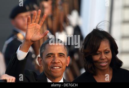 Berlin, Germany, arrival of U.S. President Barack Obama in Berlin - Stock Photo