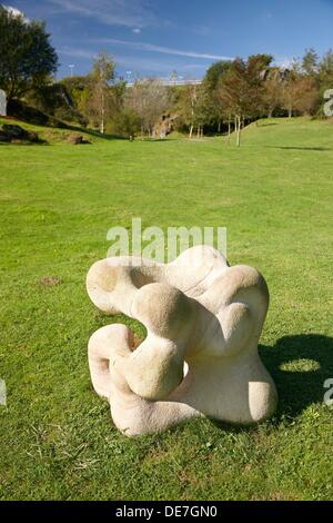 Sculpture park, La Arboleda, Valle de Trapaga, Biscay, Basque Country, Spain - Stock Photo