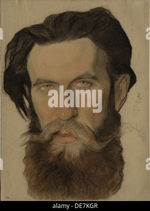 Portrait of Otto Y. Schmidt (1891-1956), 1921-1922. Artist: Andreev, Nikolai Andreevich (1873-1932) - Stock Photo