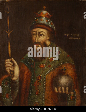 Portrait of the Tsar Michail I Fyodorovich of Russia (1596-1645), Early 18th cen.. Artist: Anonymous - Stock Photo
