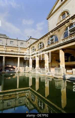 Roman Bath House, Roman Baths, Bath, Somerset, England, UK, GB. - Stock Photo