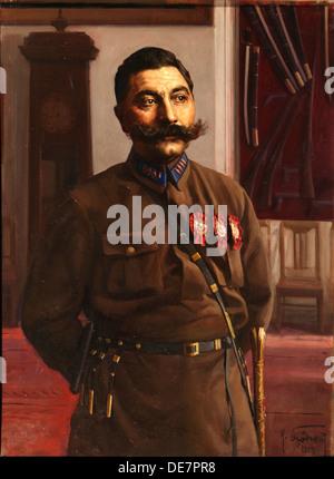 Portrait of Semyon Mikhailovich Budyonny (1883-1973), 1929. Artist: Brodsky, Isaak Izrailevich (1884-1939) - Stock Photo
